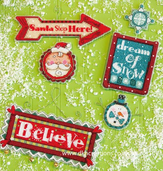 Whimsical Signs Ornaments Cross Stitch Kit